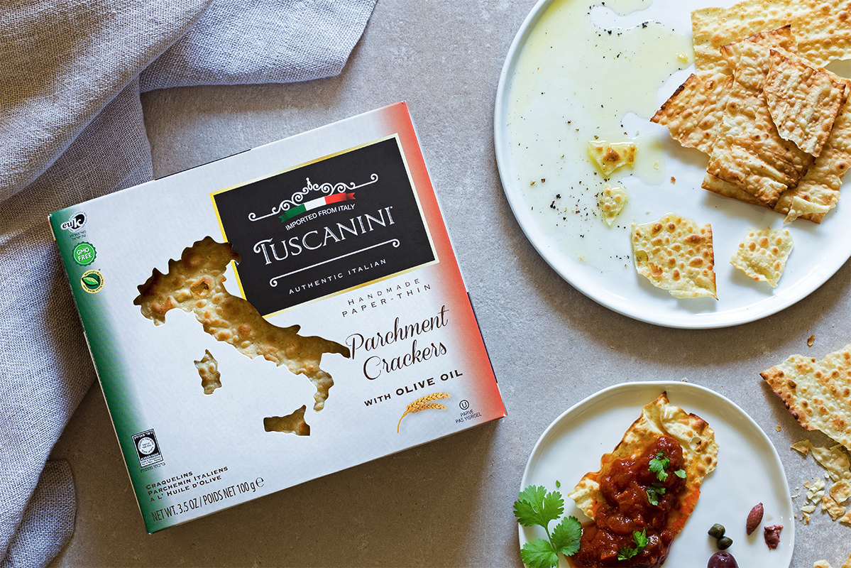 Parchment Crackers with Olive Oil